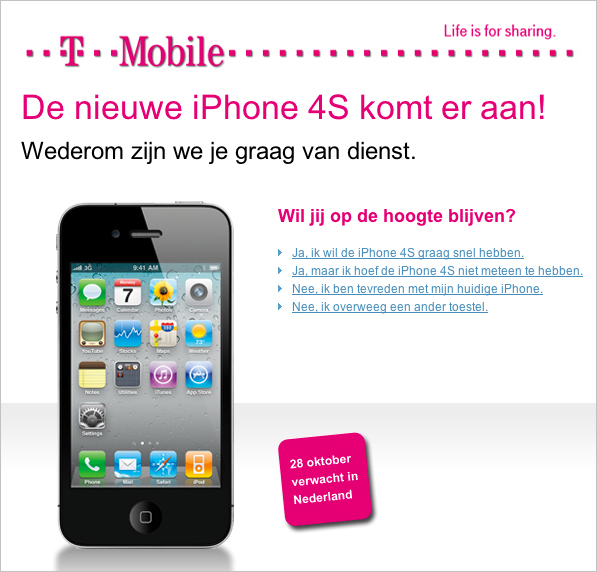 iphone 4s mail tmobile
